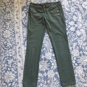 RUE21 olive green junior size 3 skinny jeans